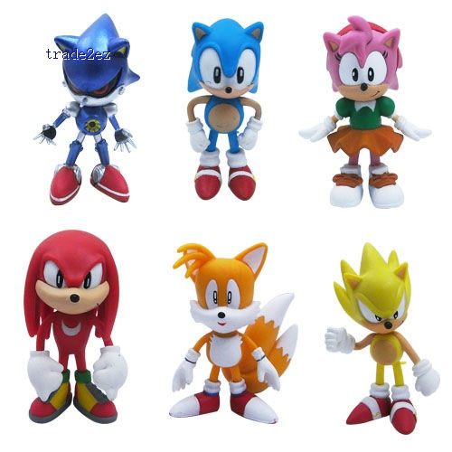 The HEDGEHOG Super Sonic Characters PVC Figure
