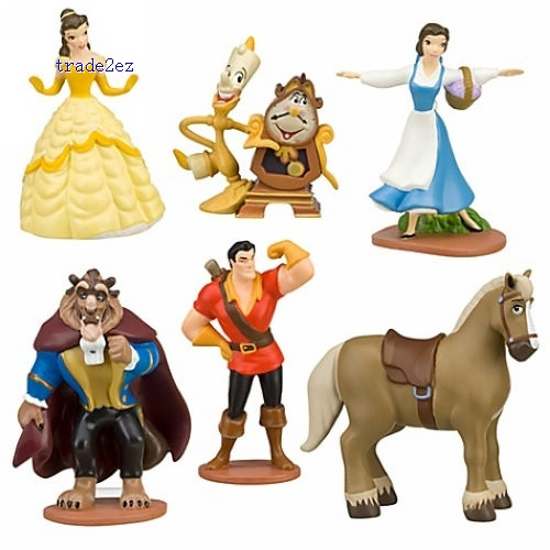 Beauty and the Beast Figure Play Set 6 Pcs