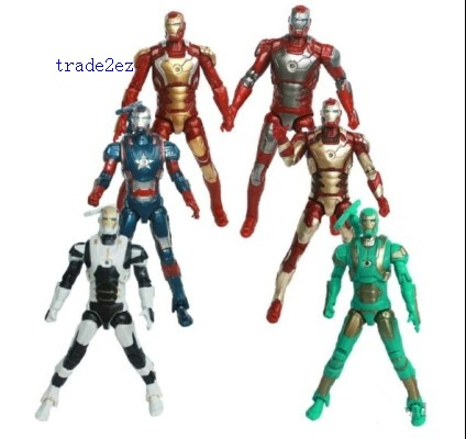 Marvel&DC The Avengers Set of 6 PCS Iron Man Action Pvc Figures