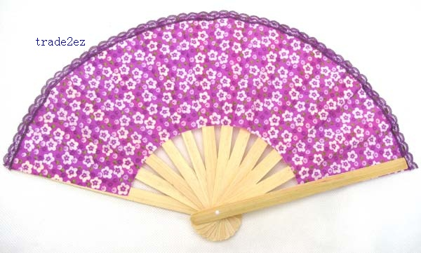 Collapsible Chinese Bamboo Fan/Silk Hand Fan Craft/Flower Hand Fan/Home Decor Gift