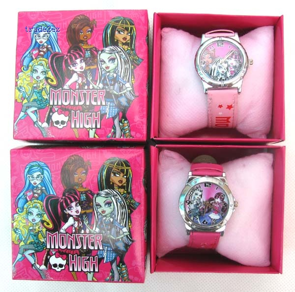 Monster High Watch with boxes Christmas gift high qulaity for kids
