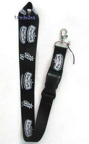 SPYRS Black Logo Neck Lanyard for MP3/4 cell phone