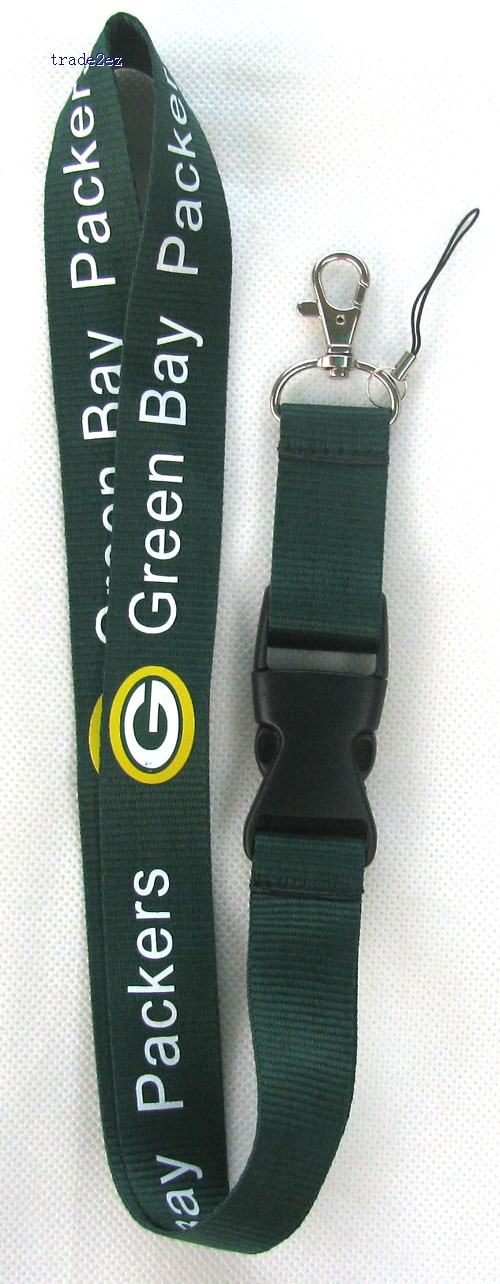 Green Bay Packers Lanyard ID card Phone Strap
