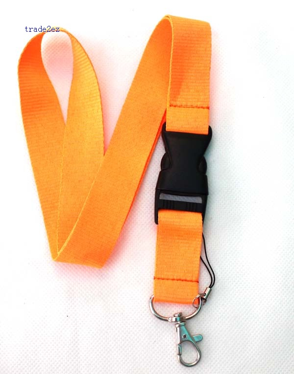 Blank Solid Orange lanyard