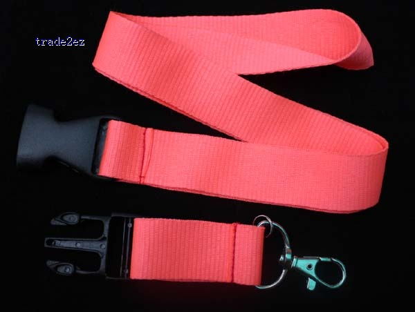 Blank Solid lanyard Watermelon red