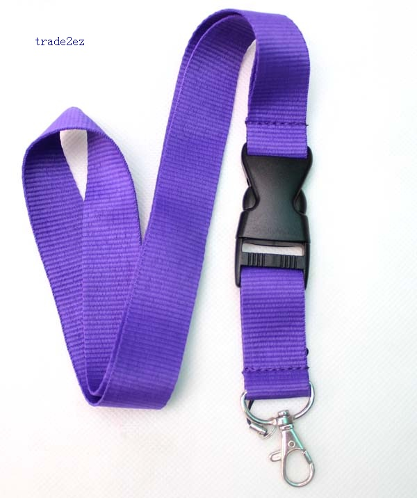 Blank Solid purple lanyard