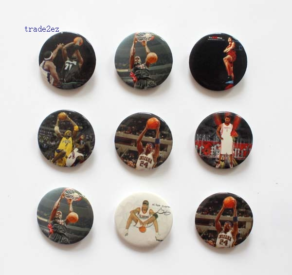 NBA basketball 2.5cm badge