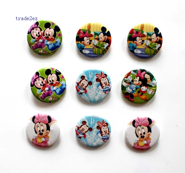 mickey minnie mouse 2.5cm badge