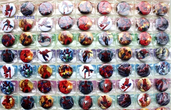 Spider-Man 2.5cm badge new