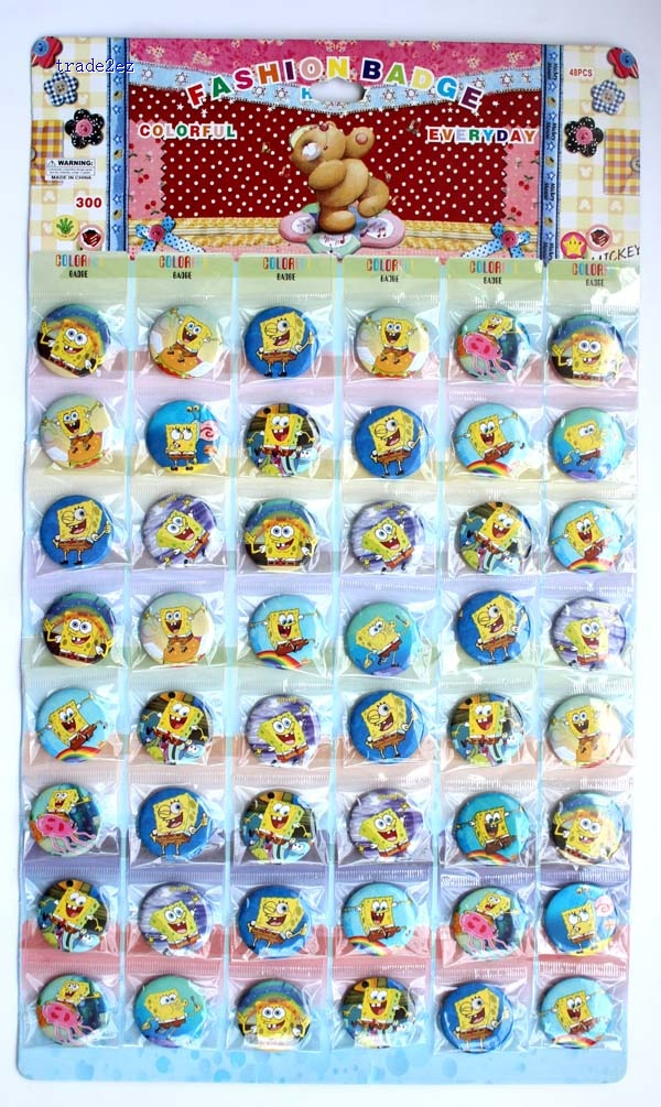 Spongebob 3 cm badge new