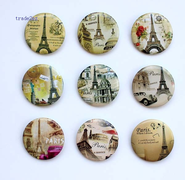 Eiffel Tower 3 cm badge