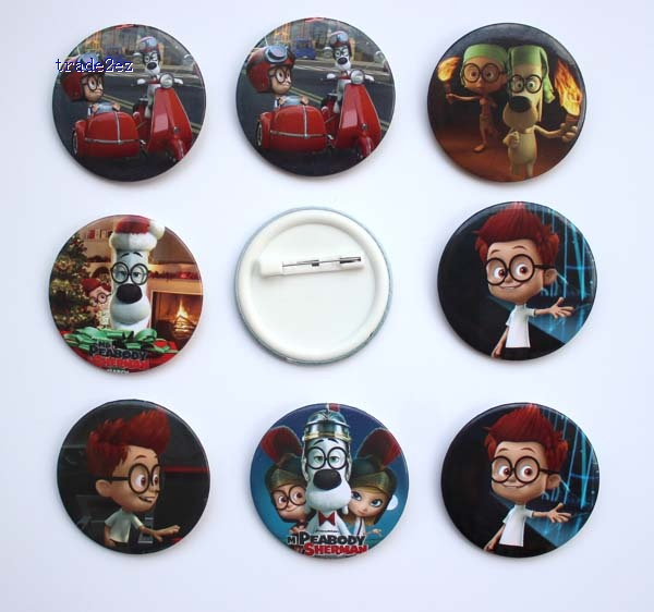 Peabody & Sherman 4.5 cm badge