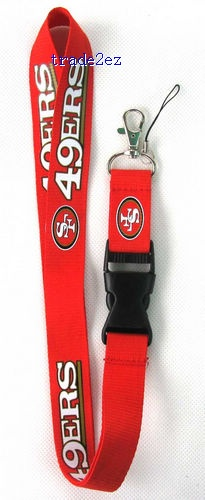 San Francisco 49ers mobile Phone lanyard Keychain straps