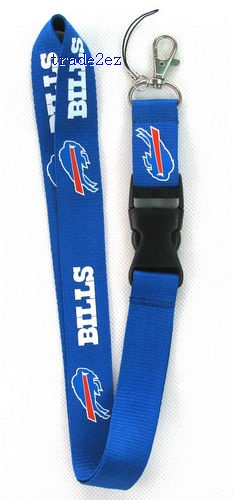 Buffalo Bills Lanyard Keychain with ID Pocket Cell Phone Strap