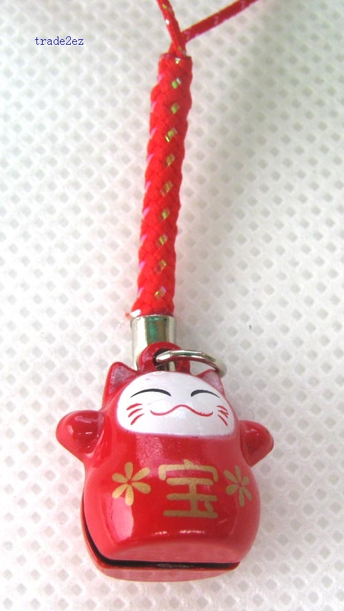 red lucky cat ring