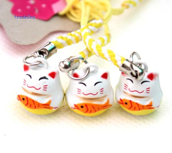 fish lucky cat ring bell