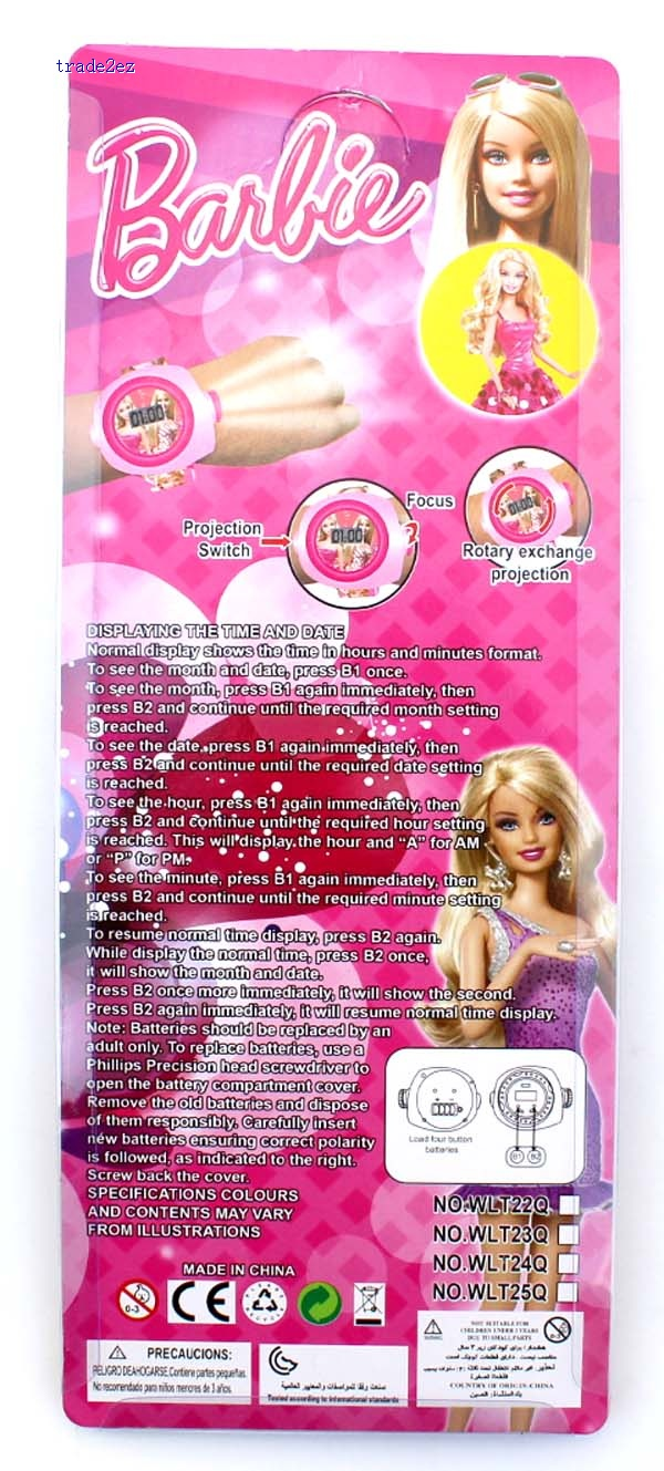 barbie projection watch