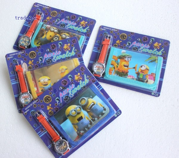 Minions wallet and watch set