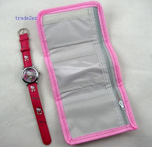 Hello Kitty wallet and watch set
