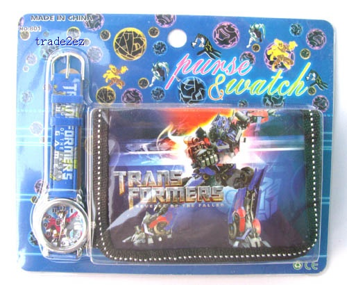 transformers wallet and watch set