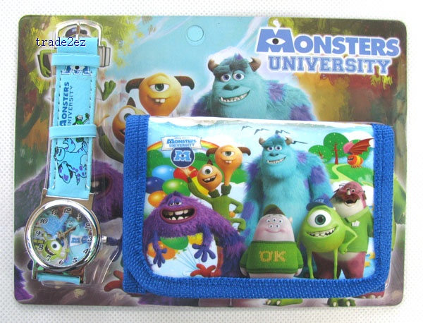 Monsters University watches and wallet set