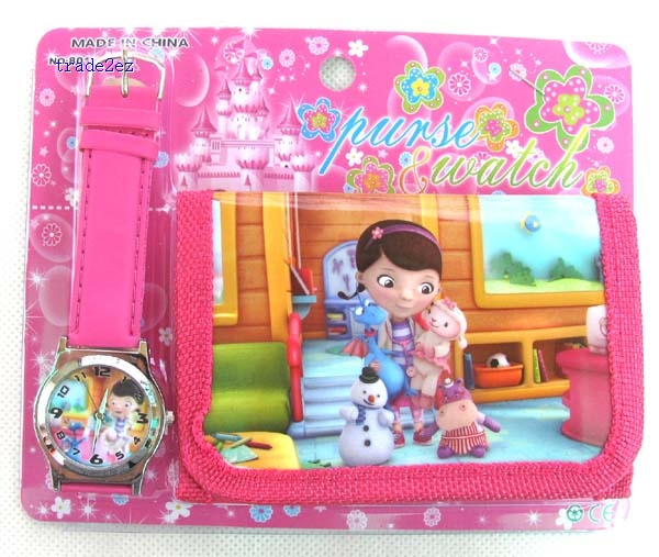 SoDoc Mcstuffins wallet and watch set