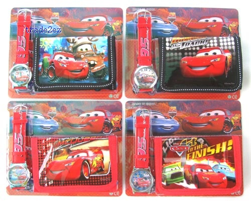 the cars wallet and watch set