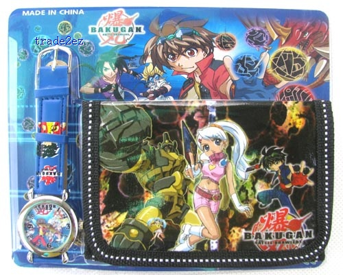 bakugan wallet and watch set