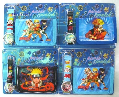 Naruto wallet and watch set