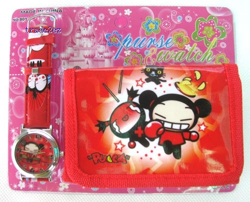 chinese doll wallet and watch set