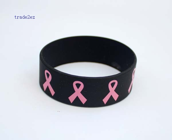 Red ribbon silicone bracelet