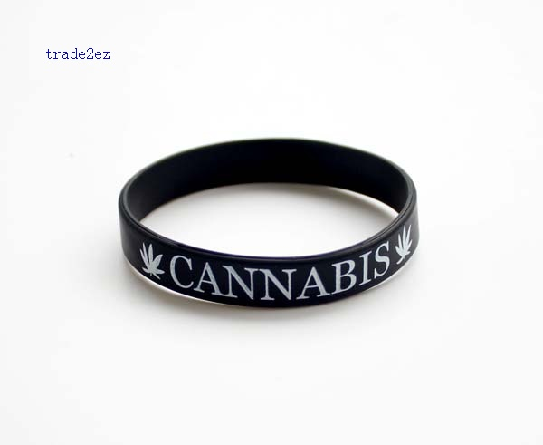 CANNABIS silicone bracelet