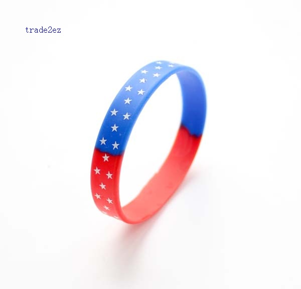 American country flag silicone bracelet
