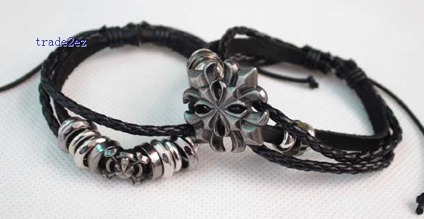leather bracelet with siderosphere