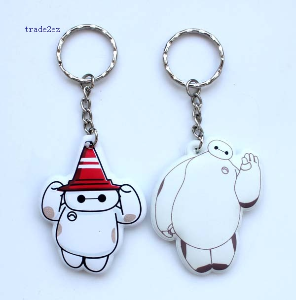 big hero 6 foam keychain