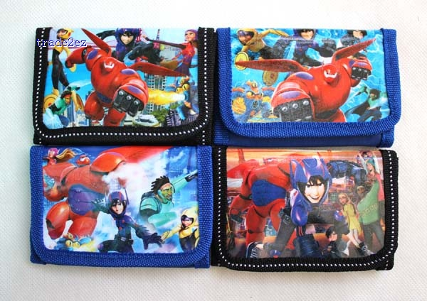 big hero 6 trifold wallet