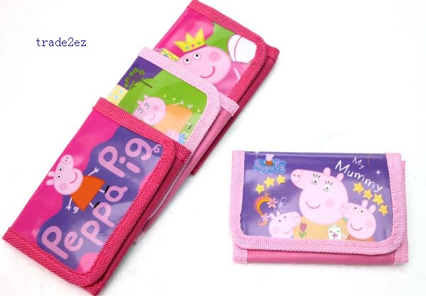 peppa pig trifold wallet