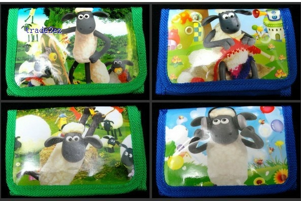 shaun the sheep trifold wallet