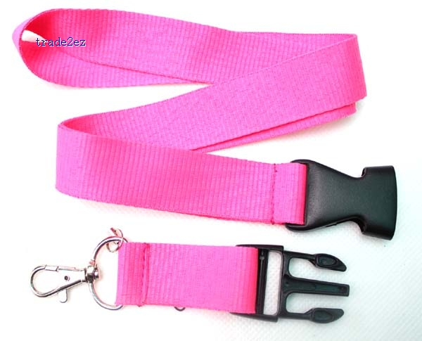 Blank Solid Pink lanyard