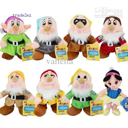 princess snow white seven dwarves 8pcs set plush toy