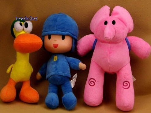 1set 3pcs 25- 30cm PATO Pocoyo ELLY PATO Soft Plush