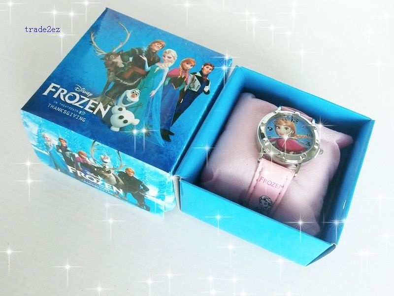 frozen anna elsa kids watch in box