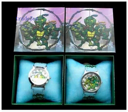 ninja Turtles kid watches in box