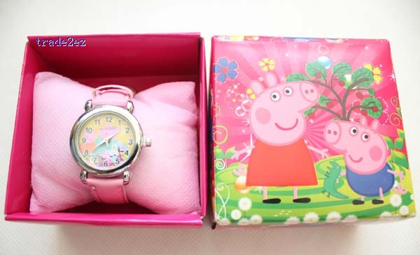peppa pig kid watches in box