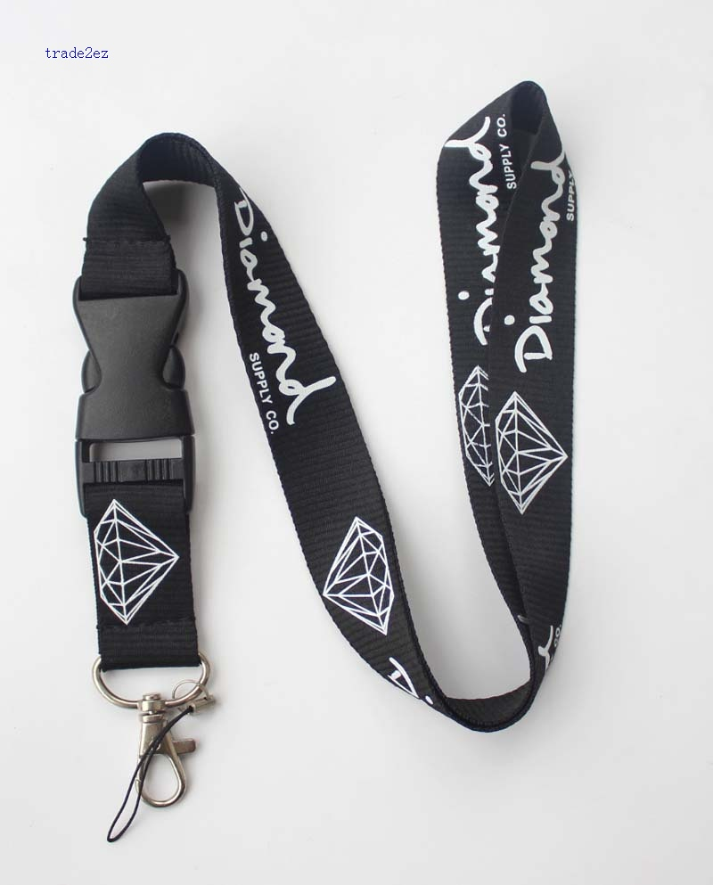 Diamond lanyard Black