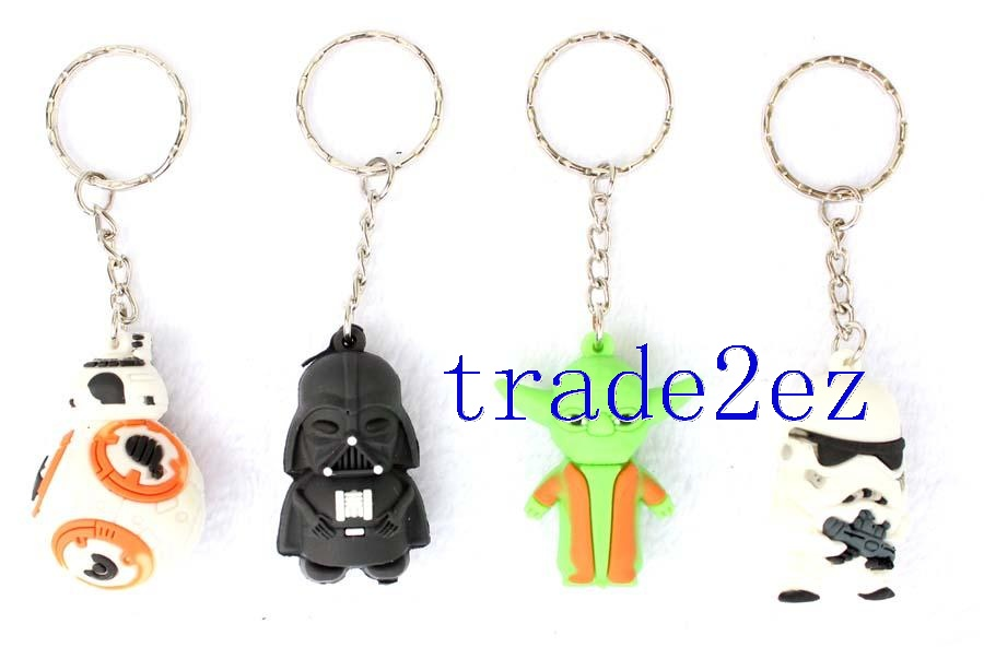 Star Wars  Black Knight Darth Vader Master Yoda BB8 Keychain