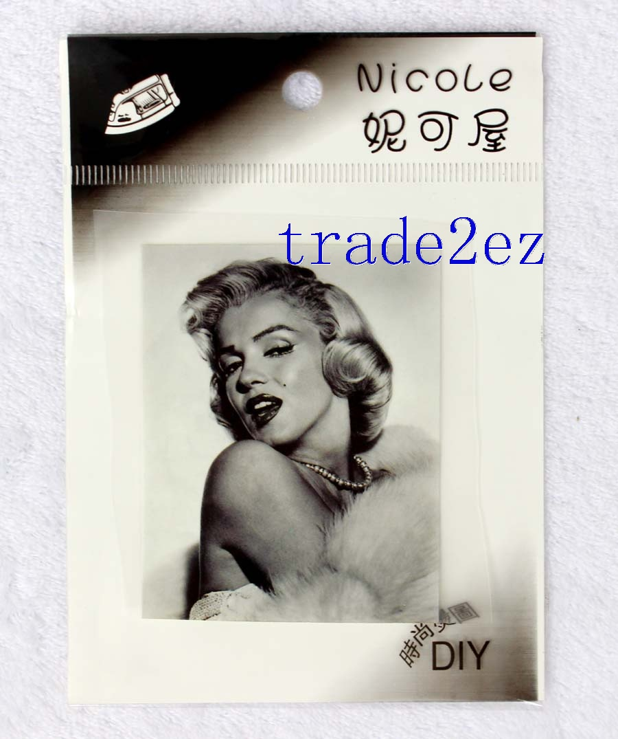 Super Star Marilyn Monroe DIY Patch Sticker