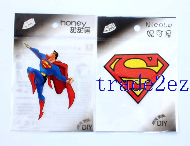 Superman Logo DIY Patch Sticker