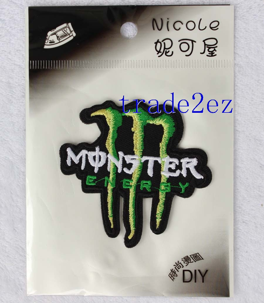Monster Energy Drink Logo DIY Fabric Patch Sticker
