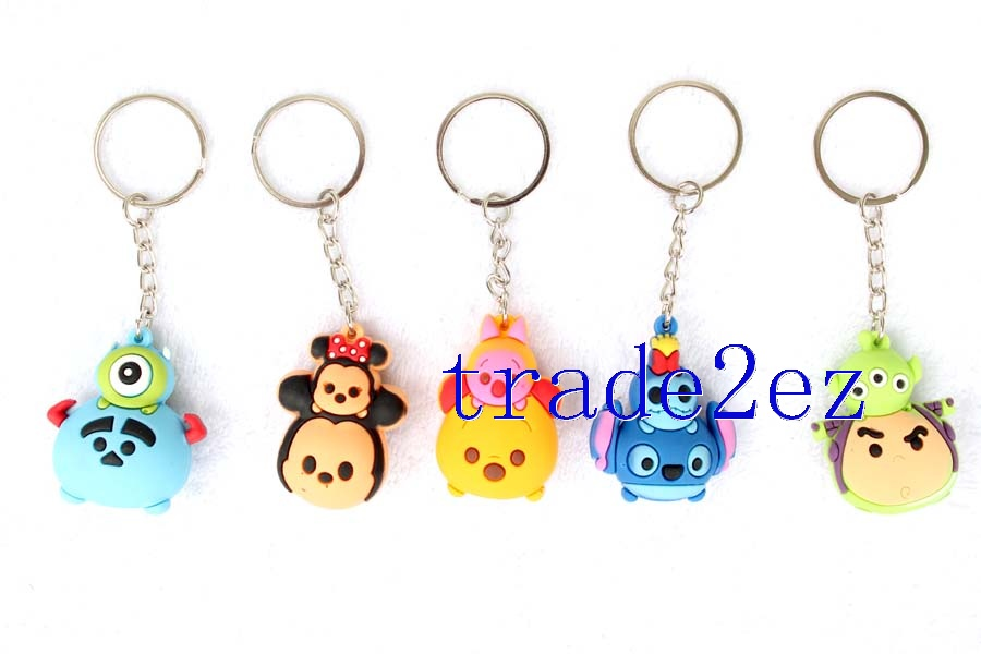 3D Tsum Minnie/Mickey Mouse PVC keychains
